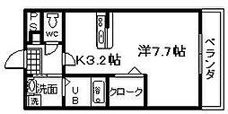アンプルールユートピア[1階]の間取り