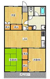 アビタシオン東宿郷[6階]の間取り
