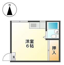 松山荘[2階]の間取り