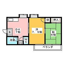 近藤コーポラス[3階]の間取り