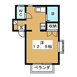 エステート松川[2階]の間取り