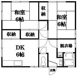 広島県東広島市西条大坪町の賃貸アパートの間取り