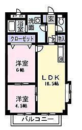サンライトホーム[0201号室]の間取り