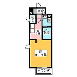 ラ・ルーチェ[8階]の間取り