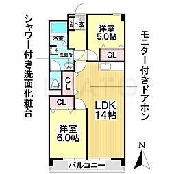 愛知県名古屋市瑞穂区瑞穂通6丁目の賃貸マンションの間取り