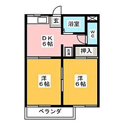 タウニ—宝山[2階]の間取り
