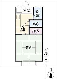 メゾンピュアホワイト[2階]の間取り