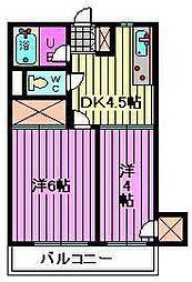 サンハイツ福田[303号室]の間取り
