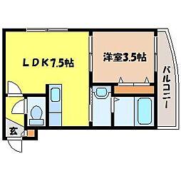 北海道札幌市中央区南十条西6丁目の賃貸マンションの間取り