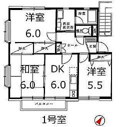 ハウス1000[2階]の間取り