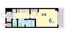 グランカリテ神戸WEST[1002B号室]の間取り