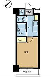 スカイコート浜松町[3階]の間取り