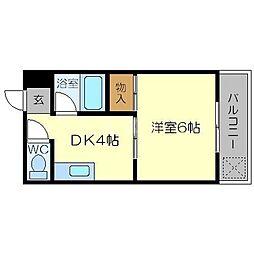 ソレイユ12[4階]の間取り