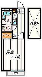 埼玉県川口市坂下町3の賃貸アパートの間取り