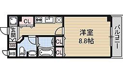 カスタリア堺筋本町[6階]の間取り