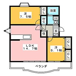 Ensoleille(アンソレイエ)[2階]の間取り