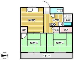 エクレール高辻[2階]の間取り