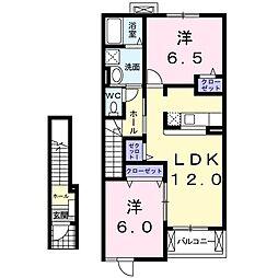 イーズ・ホームI[2階]の間取り