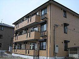長野県長野市大字富竹の賃貸アパートの外観