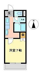 シューフルールV[3階]の間取り