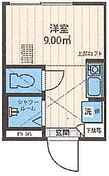 Nano上落合 地下1階ワンルームの間取り