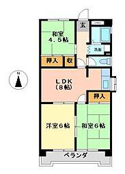 コーポ明円[3階]の間取り