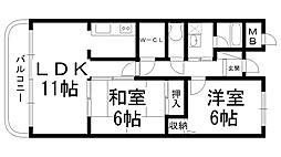 ファムール忍ヶ丘[0102号室]の間取り