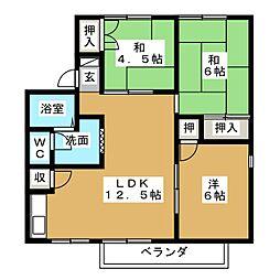 CASADE24 C[1階]の間取り