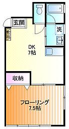 持田ビル[302号室]の間取り