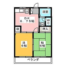 フローラルKII[2階]の間取り