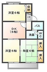 エクレール五井西B[1階]の間取り