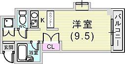 マンショントリン[4階]の間取り