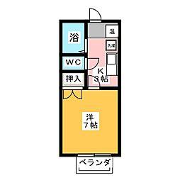 グレースヒル B棟[1階]の間取り