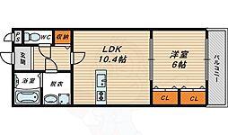 エクセル 4階1LDKの間取り