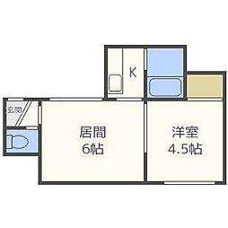 ゾンネブルーメI[2階]の間取り