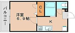 マリア21[1階]の間取り