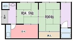 [一戸建] 兵庫県姫路市宮上町1丁目 の賃貸【兵庫県 / 姫路市】の間取り