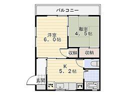 豊荘[101号室]の間取り