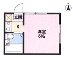 コーポシャトレ[103号室]の間取り