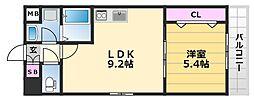 グランメゾンピア 1階1LDKの間取り