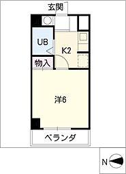 ヒビノハイツ[4階]の間取り