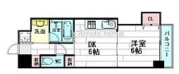 ニッケノーブルハイツ江坂[4階]の間取り