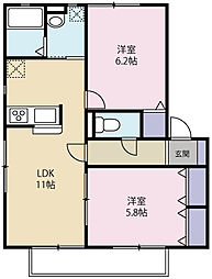 グランディアガーデン[1階]の間取り