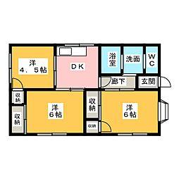 [一戸建] 静岡県掛川市下垂木 の賃貸【/】の間取り
