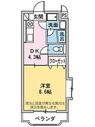 グリーンヒル タカハシII[1階]の間取り