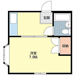 新潟県新潟市中央区白山浦新町通の賃貸アパートの間取り