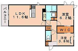 D−roomアネシス[1階]の間取り