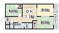 フェリオ伊丹北(荻野)[2階]の間取り