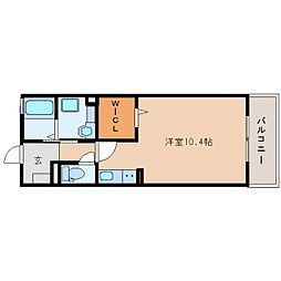 静岡鉄道静岡清水線 新清水駅 バス20分 白浜町下車 徒歩1分の賃貸アパート 1階ワンルームの間取り