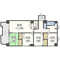 プラスパークN14[2階]の間取り